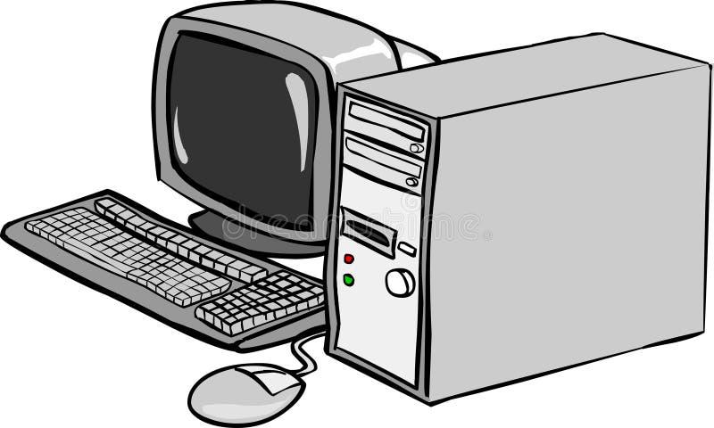 Download DatorPC vektor illustrationer. Illustration av cartoon - 2617957