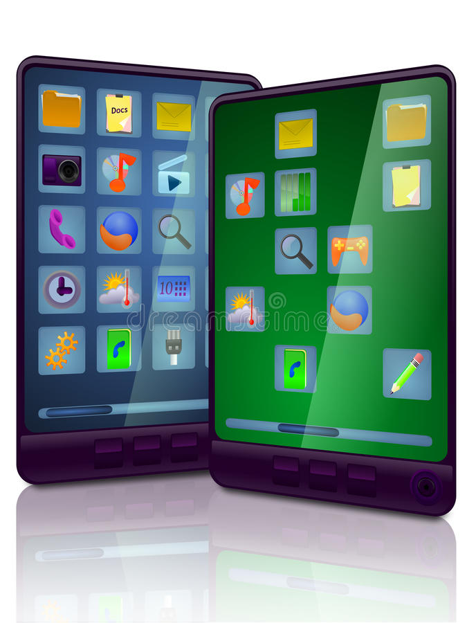 datorportabletablet stock illustrationer