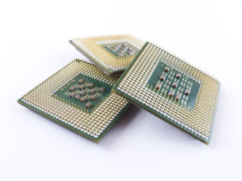 Datorprocessorchiper arkivfoton