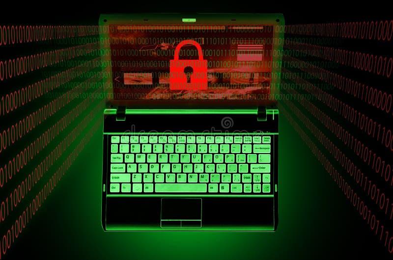 datorsäkerhetsproblem royaltyfri illustrationer