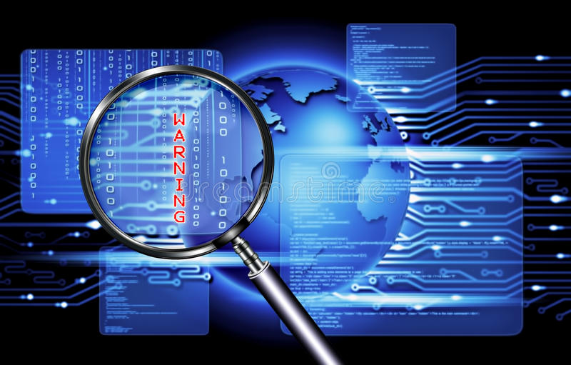 Datorsäkerhetsteknologi royaltyfri foto