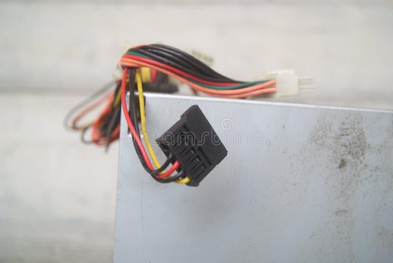 Datorströmförsörjningtråd arkivfoton