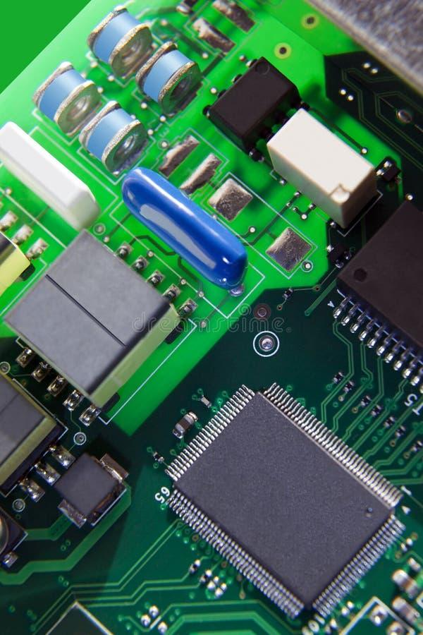 Datorströmkretsbräde Arkivfoto
