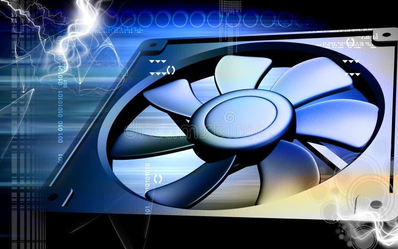 datorsvalningsventilator vektor illustrationer
