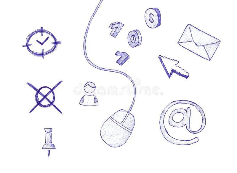 datorsymboler stock illustrationer