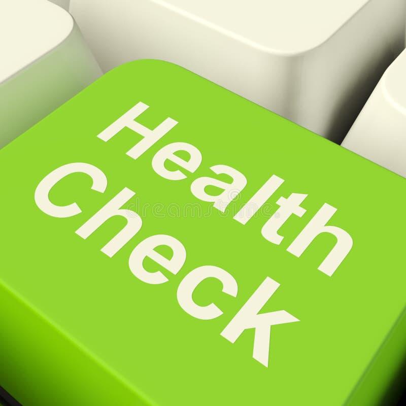 Datortangent för vård- kontroll i grön visningläkarundersökning royaltyfria foton