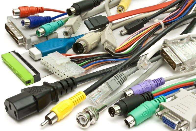 datortråd royaltyfri bild