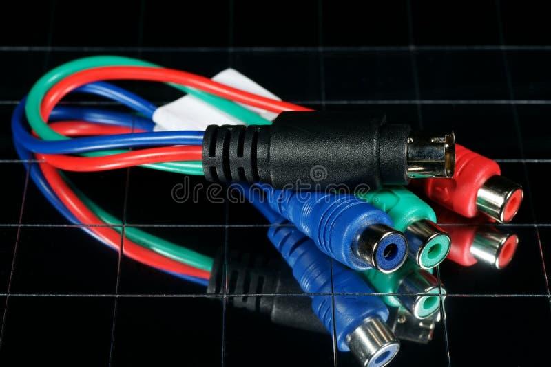 datortråd royaltyfria bilder