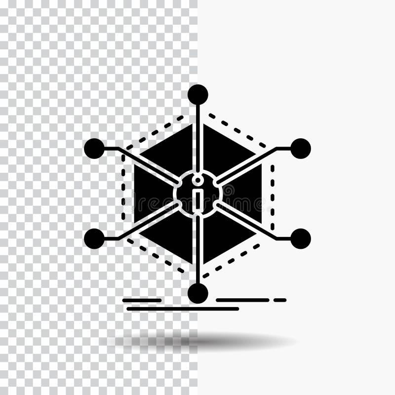 Datos, ayuda, información, información, icono del Glyph de los recursos en fondo transparente Icono negro libre illustration