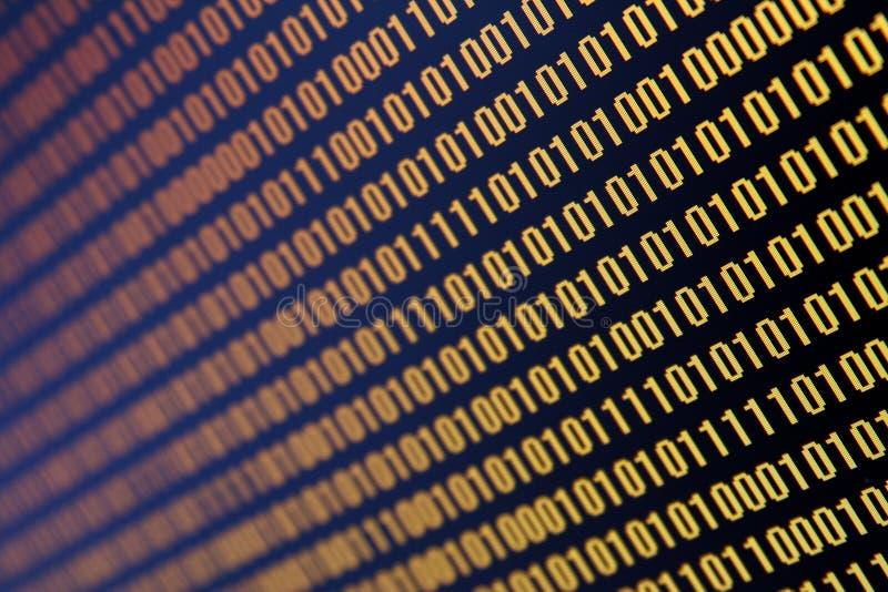 Datos binarios foto de archivo libre de regalías