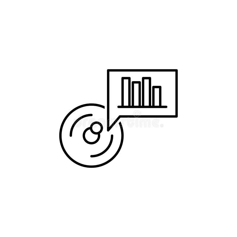 datos, carta, icono de la visualización Elemento del icono tecnológico de los datos para los apps móviles del concepto y de la we stock de ilustración