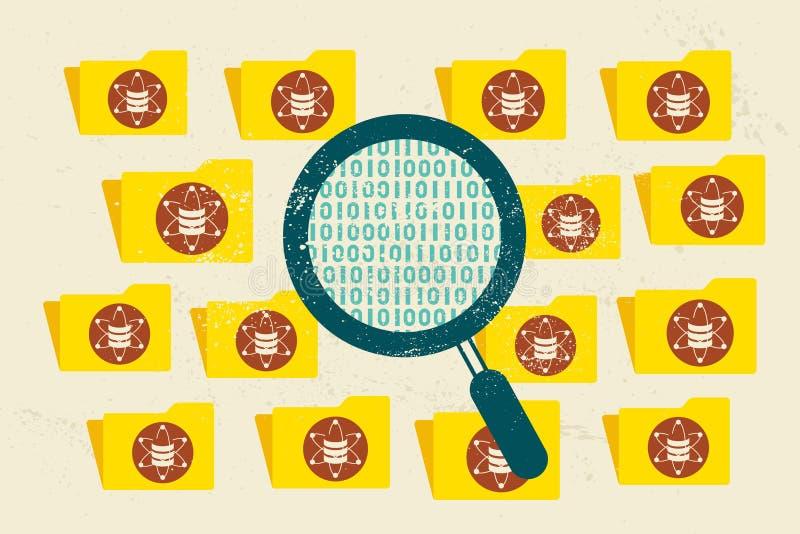 Datos, ciencia de los datos y concepto grandes de la comunicación libre illustration