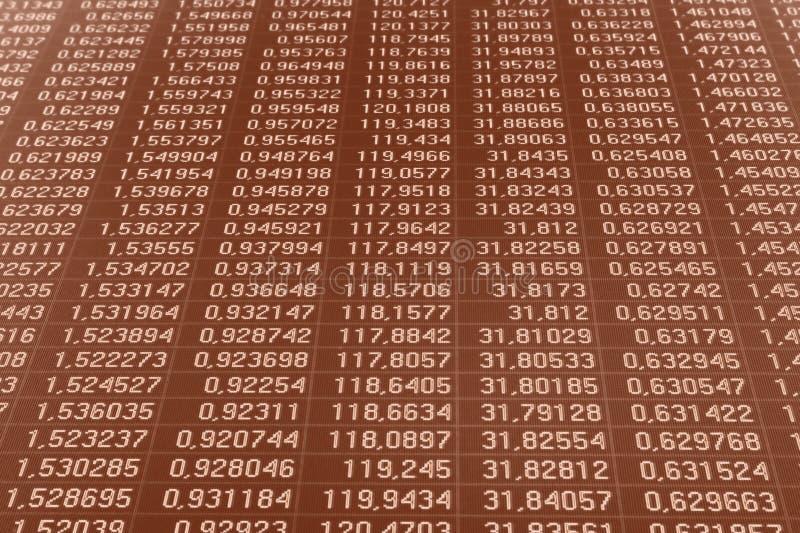Datos de intercambio de dinero en circulación foto de archivo libre de regalías