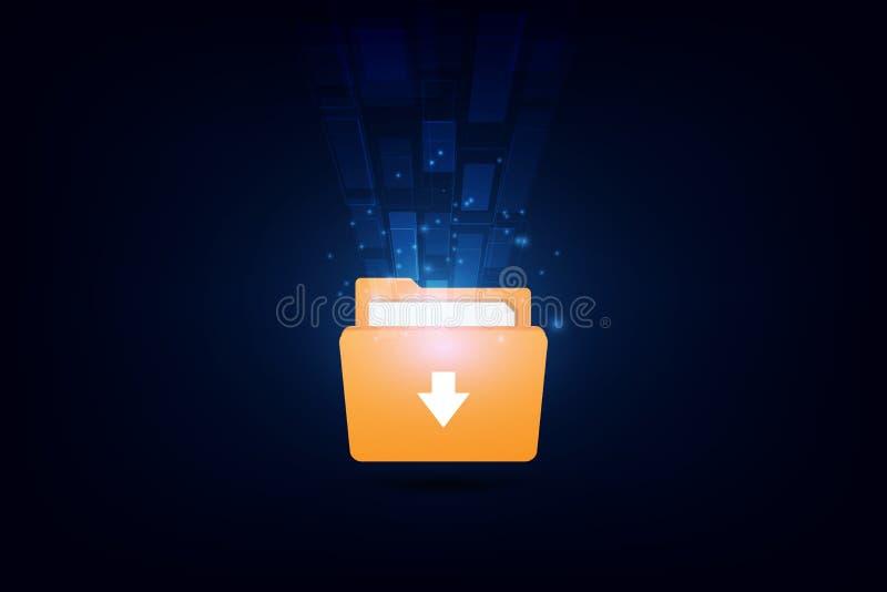 Datos de la carga por teletratamiento y de la transferencia, tecnología del concepto Ilustraci?n EPS10 del vector libre illustration