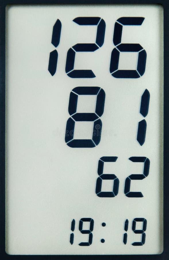 Datos de la medida de la presión arterial foto de archivo libre de regalías