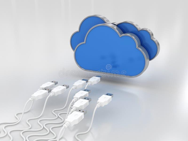 Datos de la nube ilustración del vector