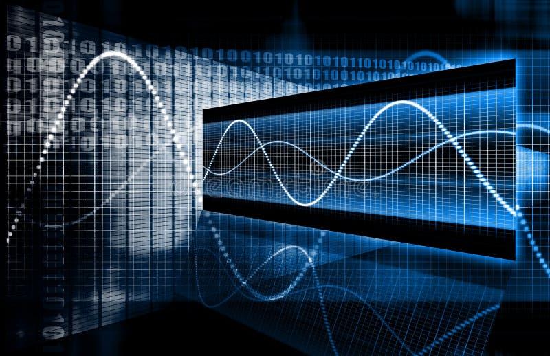 Datos de la tecnología multimedia stock de ilustración