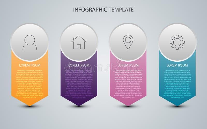 Datos de negocio con los elementos abstractos del gráfico Plantilla del vector para la presentación Concepto creativo para el inf libre illustration