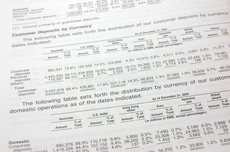 Datos financieros fotos de archivo libres de regalías