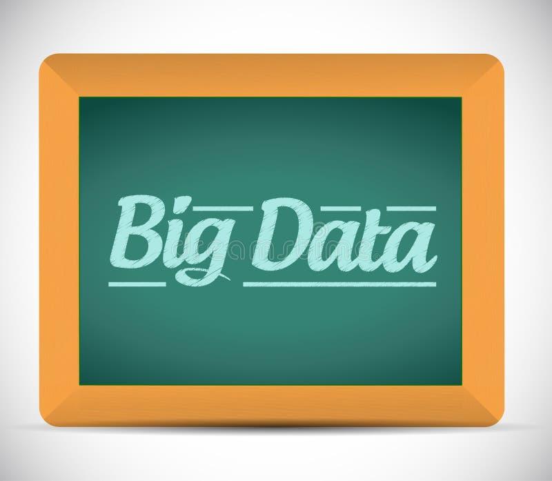 Datos grandes escritos en una pizarra. ejemplo stock de ilustración
