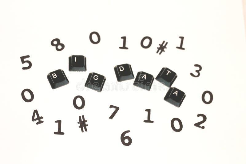 Datos grandes rodeados por los dígitos al azar imágenes de archivo libres de regalías