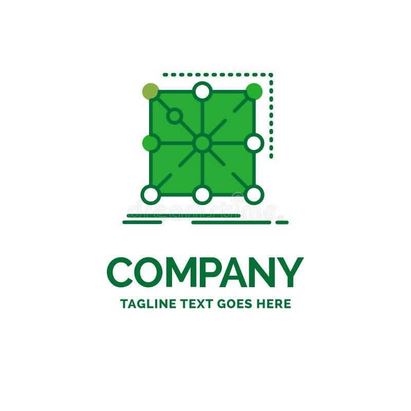 Datos, marco, App, racimo, templa plano complejo del logotipo del negocio libre illustration