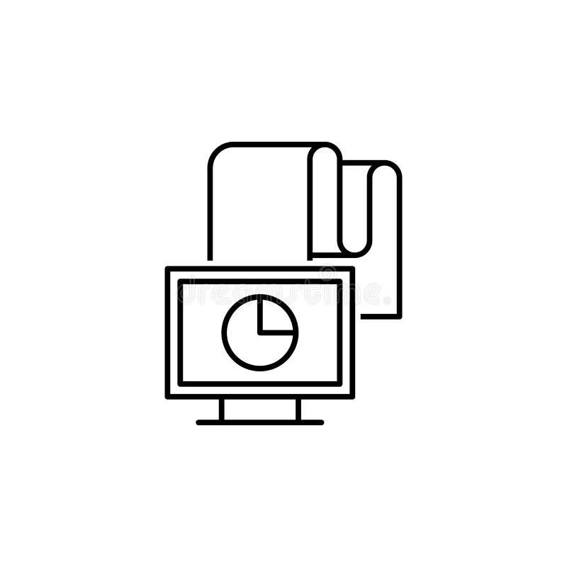 datos, monitor, carta, icono del analytics Elemento del icono tecnológico de los datos para los apps móviles del concepto y de la stock de ilustración