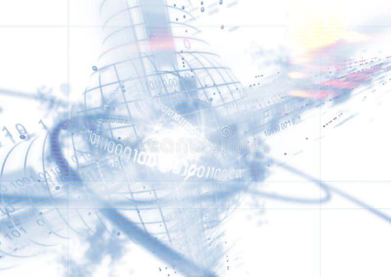 Datos sobre fondo ilustración del vector