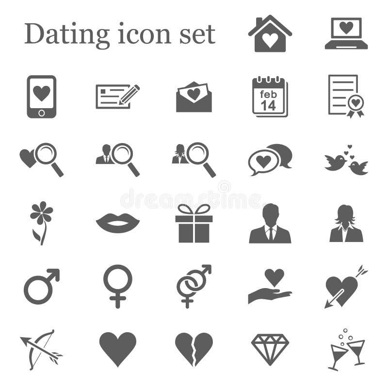 Datowanie ikony set royalty ilustracja