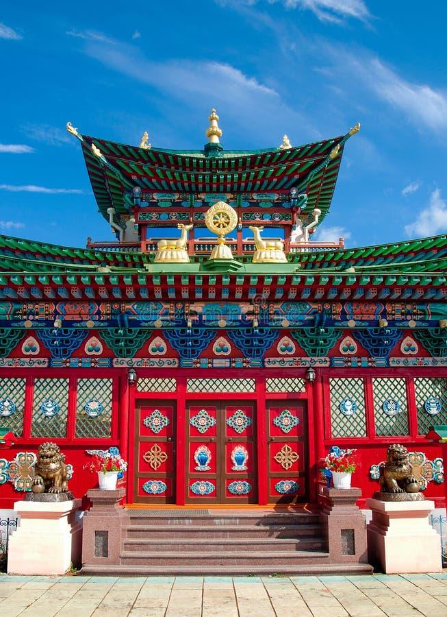 Datsan Ivolginsky, buddistisk tempel royaltyfria foton