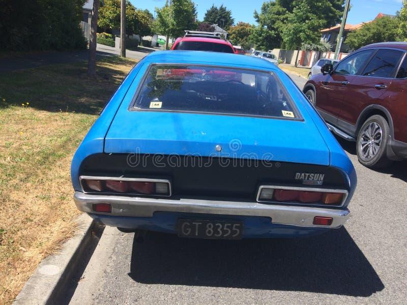 Datsun 120 Y stary zegar obraz stock