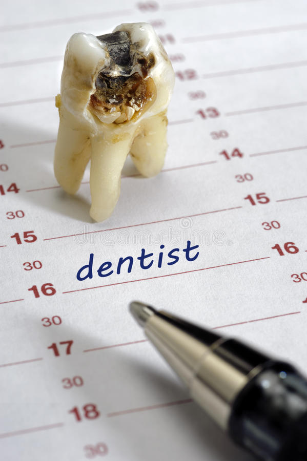Datte de dentiste images stock