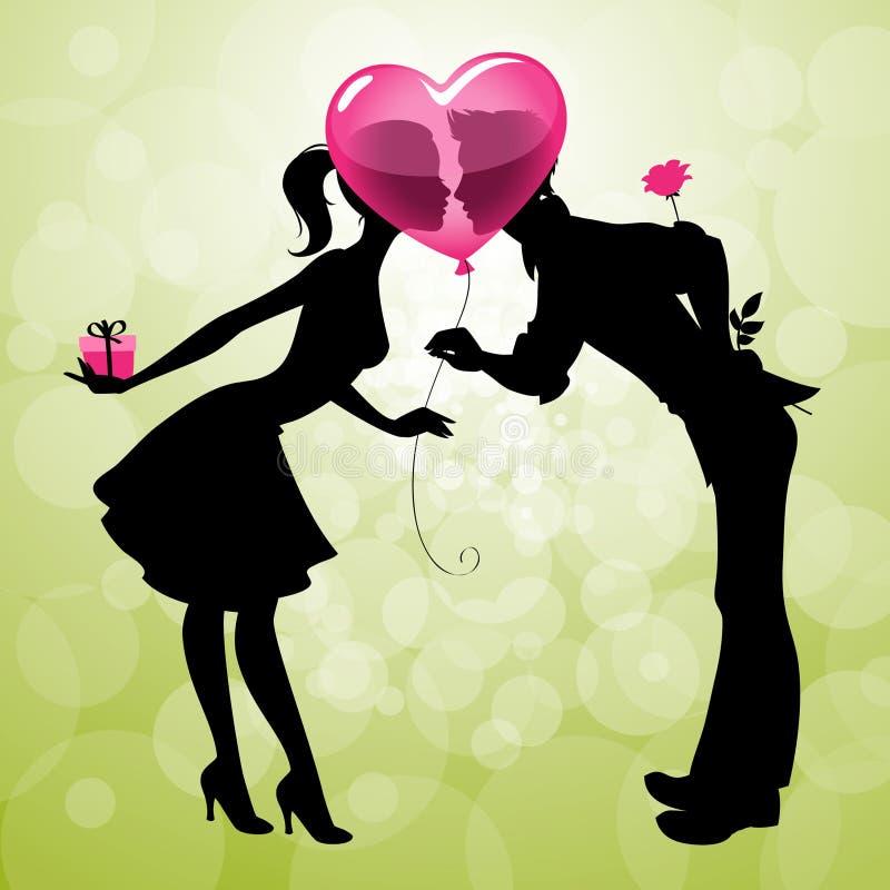 Datte de jour de Valentins illustration libre de droits