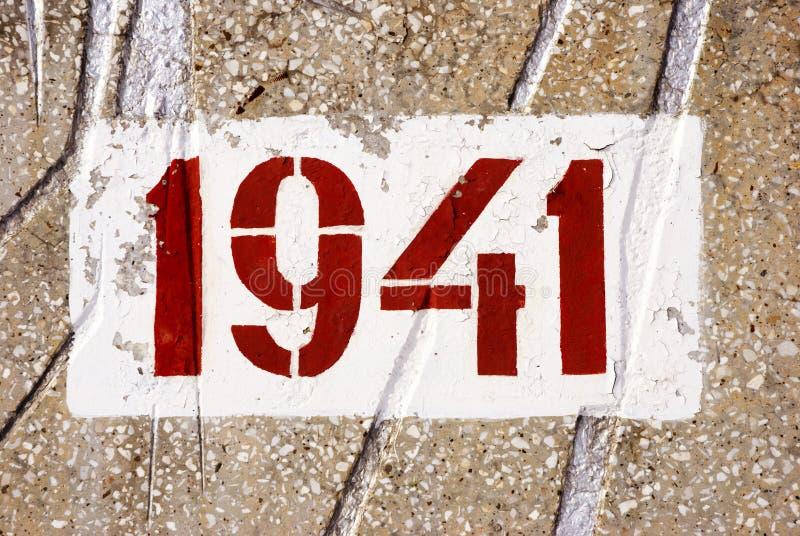 Datte du début de la deuxième guerre mondiale images libres de droits