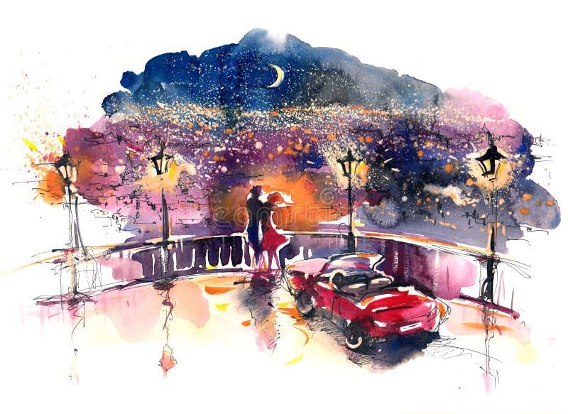 Datte romantique illustration de vecteur