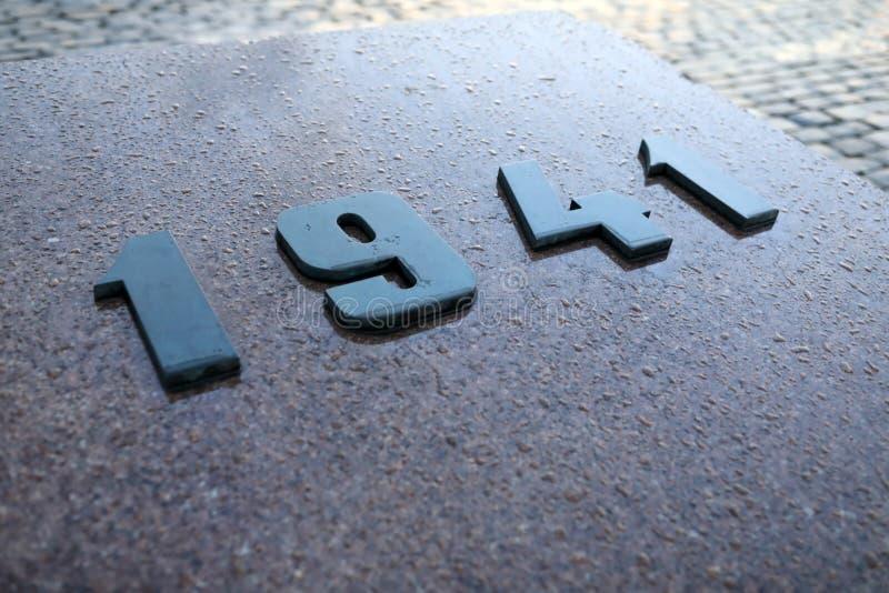 Datum av kriget royaltyfri foto