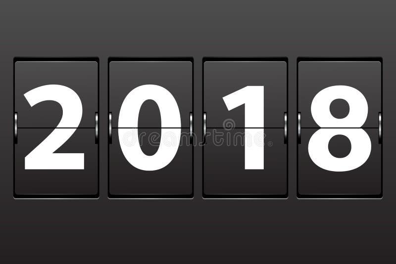 Datum des Illustrations-neuen Jahres 2018 lizenzfreie abbildung