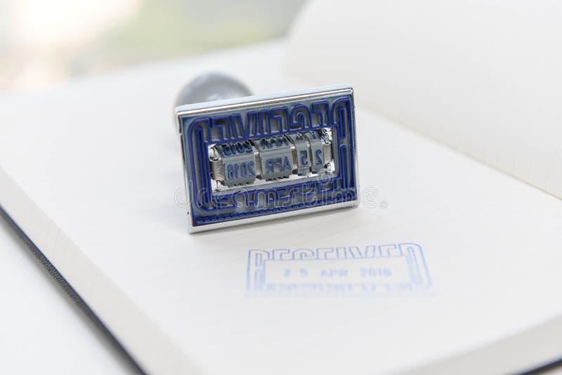 Datum - Stempel stockfotografie