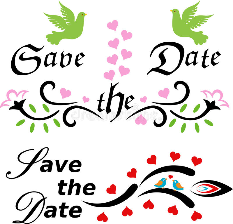 datumet sparar royaltyfri illustrationer