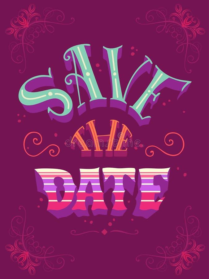 datumet sparar stock illustrationer