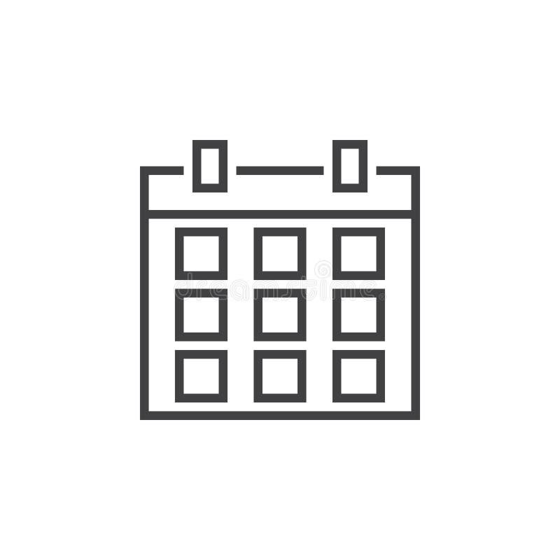 Download Datumsgrenzeikone, Entwurfslogo, Lineares Piktogramm Isolat Stock Abbildung - Illustration von zeichen, datum: 90234448