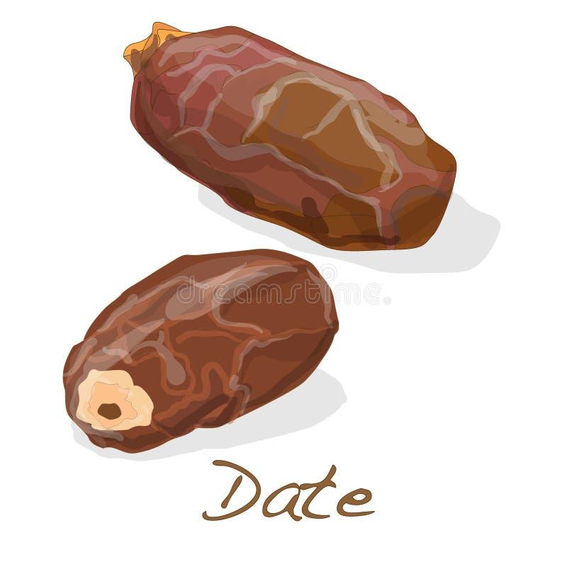 daty wektor ilustracji