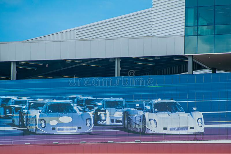 Olorful car race image at Daytona International Speedway 26 stock photography