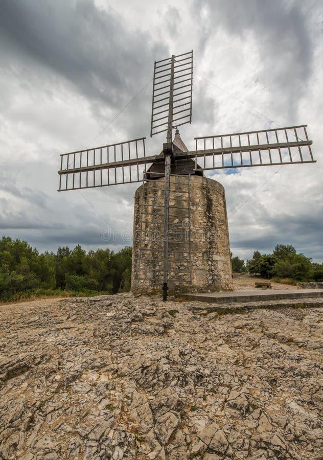 Daudet wiatraczek w Provence, Francja obraz stock