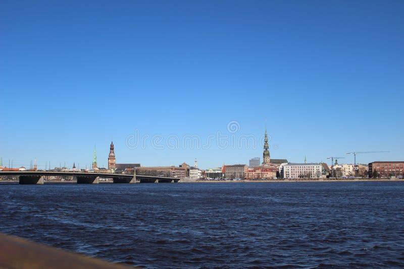 Daugavaflod royaltyfria bilder