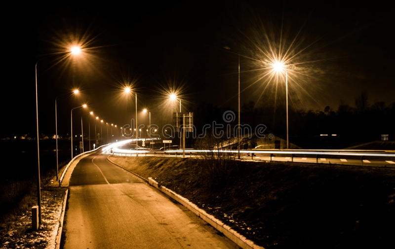 Daugavpils noc zdjęcie stock