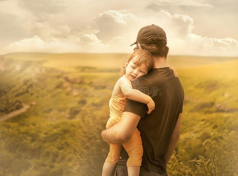 Daughter and father royalty free stock photo