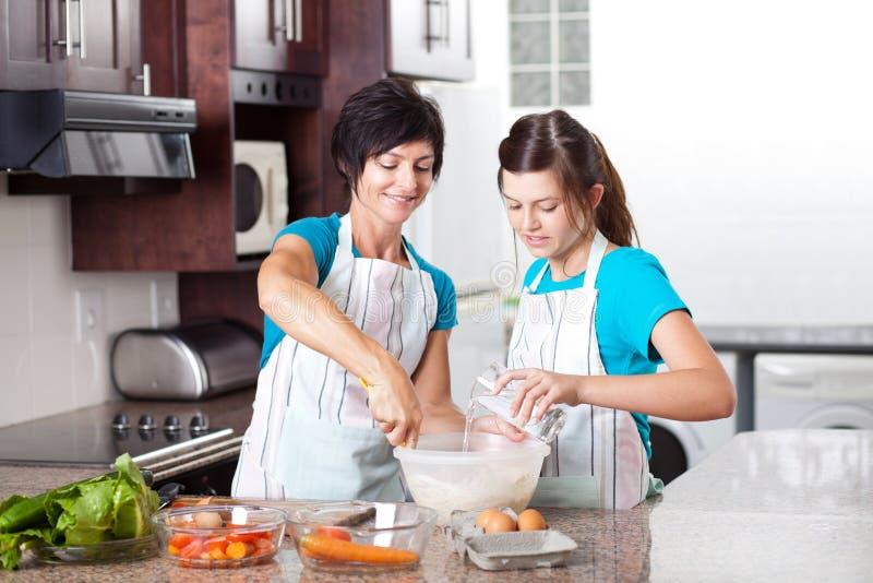 Download Daughter Helping Mother Baking Stock Image - Image: 23477697