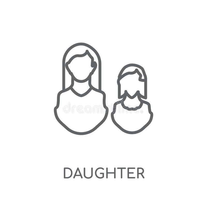daughter linear icon. Modern outline daughter logo concept on wh vector illustration