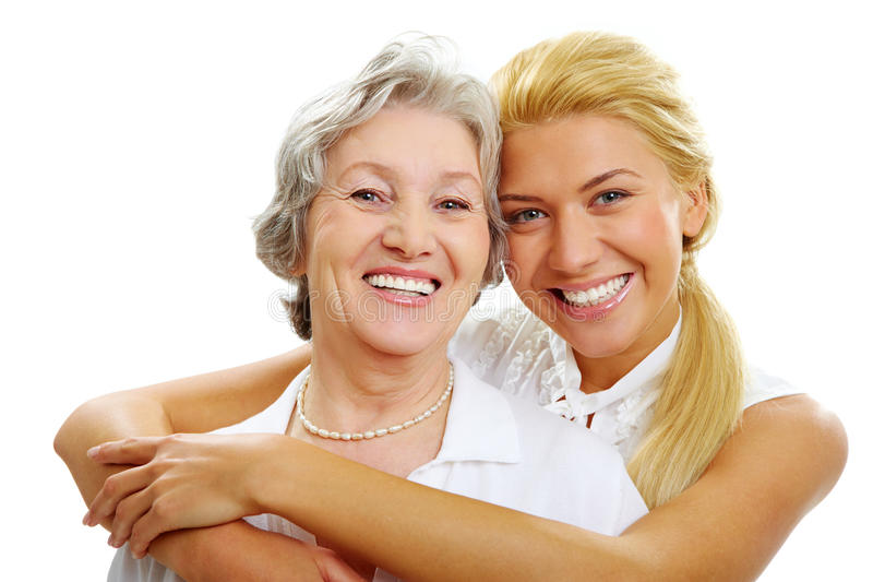 Daughter and mother royalty free stock image